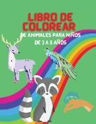 Libro de Colorear de Animales para Niños de 3 a 8 años