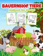 Bauernhof Tiere Malbuch für Kinder