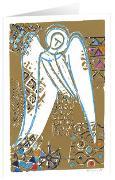Himmelsbote - Kunst-Faltkarten m.Goldprägung ohne Text (5 Stück)