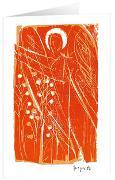 Engel mit Ähre - Kunst-Faltkarten ohne Text (5 Stück)