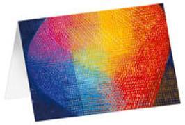 Lichtkugel - Kunst-Faltkarten ohne Text (5 Stück)