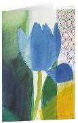 Sommertulpe - Kunst-Faltkarten ohne Text (5 Stück)