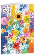 Bunte Wiesenblumen - Kunst-Faltkarten ohne Text (5 Stück)