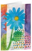 Blauer Frühling - Kunst-Faltkarten ohne Text (5 Stück)