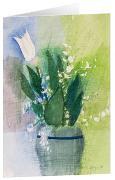 Frühlingstraum - Kunst-Faltkarten ohne Text (5 Stück)