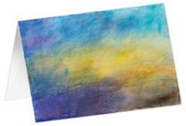 Lichtwolken - Kunst-Faltkarten ohne Text (5 Stück)