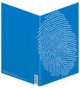 Einzigartig (blau) - Faltkarten (5 Stück)