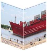 Containerschiff - Faltkarten (5 Stück)