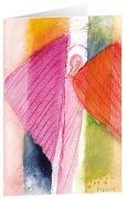 Engel an der Pforte - Kunst-Faltkarten ohne Text (5 Stück)