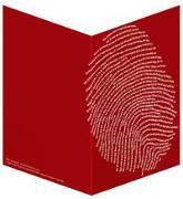 Einzigartig (rot) - Faltkarten (5 Stück)