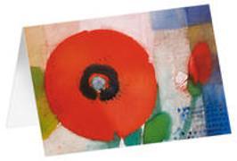 Roter Mohn - Kunst-Faltkarten ohne Text (5 Stück)