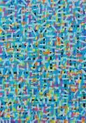 Durchdringung 4 - Kunst-Faltkarten ohne Text (5 Stück)