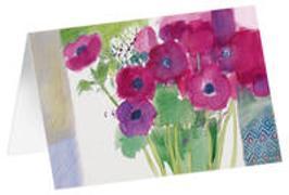 Anemonen - Kunst-Faltkarten ohne Text (5 Stück)