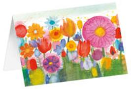 Blumenwiese - Kunst-Faltkarten ohne Text (5 Stück)