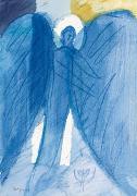 Engel der Geborgenheit - Kunst-Faltkarten ohne Text (5 Stück)