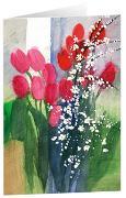 Tulpenstrauß 1 - Kunst-Faltkarten ohne Text (5 Stück)