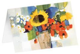 Sommerstrauß - Kunst-Faltkarten ohne Text (5 Stück)