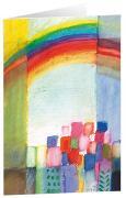 Regenbogen - Kunst-Faltkarten ohne Text (5 Stück)