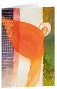 Engel im Licht - Kunst-Faltkarten ohne Text (5 Stück)