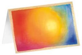 Lichtkreis - Kunst-Faltkarten ohne Text (5 Stück)