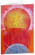 Coronalicht I - Kunst-Faltkarten ohne Text (5 Stück)