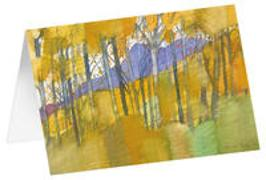 Goldener Herbst - Kunst-Faltkarten ohne Text (5 Stück)