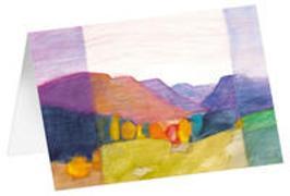Herbstfarben - Kunst-Faltkarten ohne Text (5 Stück)