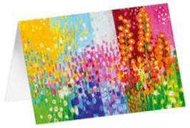 Blütenmeer - Kunst-Faltkarten ohne Text (5 Stück)