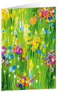 Blütenwiese - Kunst-Faltkarten ohne Text (5 Stück)