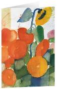 Herbstwiese - Kunst-Faltkarten ohne Text (5 Stück)