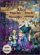 Livre de coloriage Alice au pays des merveilles pour adultes