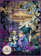 Alice im Wunderland Malbuch für Erwachsene