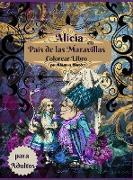 Libro para colorear de Alicia en el País de las Maravillas para adultos