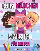 Chibi Mädchen Malbuch für Kinder