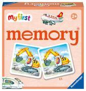 Ravensburger - 20877 - My First memory® Fahrzeuge, Merk- und Suchspiel mit extra großen Bildkarten für Kinder ab 2 Jahren