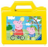 Ravensburger Kinderpuzzle 05576 - Spaß mit Peppa - 12 Teile Peppa Pig Würfelpuzzle für Kinder ab 4 Jahren