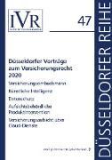 Düsseldorfer Vorträge zum Versicherungsrecht 2020