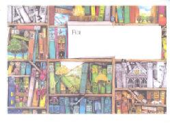 Lappan Umschlag. Für Gutschein, Motiv Bücherwand