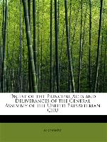 Digest of the Principal Acts and Deliverances of the General Assembly of the United Presbyterian Chu