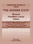 Newspaper Extracts from the Hoosier State Newspapers, Newport, Vermillion County, Indiana, January, 1882 to December 1885