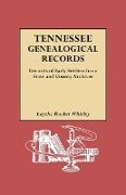 Tennessee Genealogical Records. Records of Early Settlers from State and County Archives