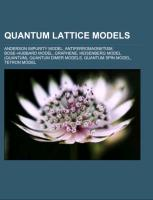 Quantum Lattice models