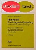 Analysis III. Funktionentheorie, Differentialgleichungen