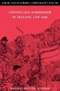 Controlling Misbehavior in England, 1370 1600