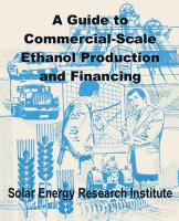 A Guide to Commercial-Scale Ethanol Production and Financing
